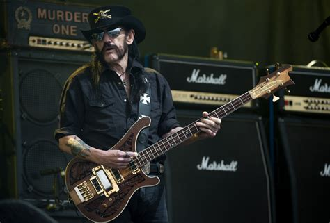 Motorhead lead singer and British heavy metal icon Lemmy