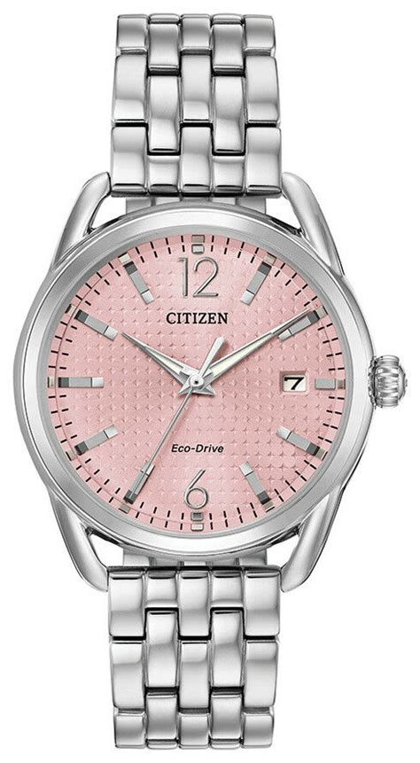 Citizen Women's Eco-Drive LTR Pink Dial Silver-Tone Band