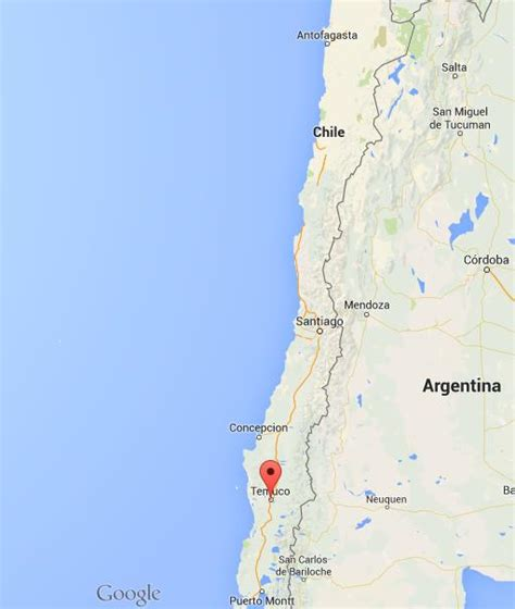 Where is Temuco on map Chile