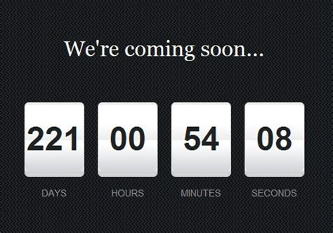 Minimal Countdown Plugin With jQuery And Moment