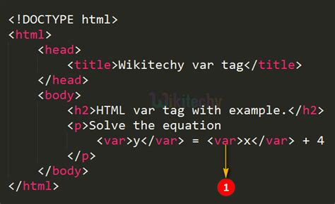html tutorial - Variable Tag in HTML - html5 - html code