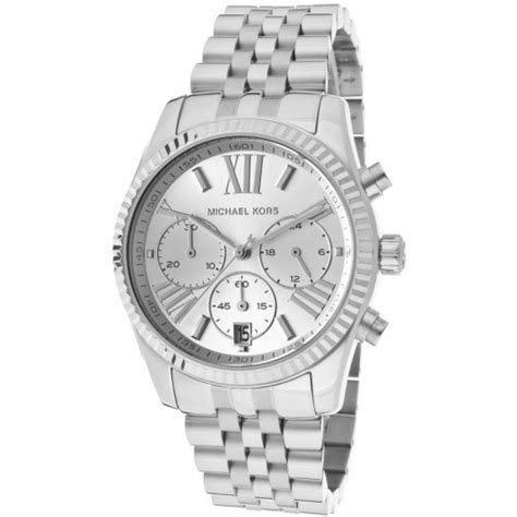 Michael Kors MK5555 Mid-Size Silver Color Stainless Steel