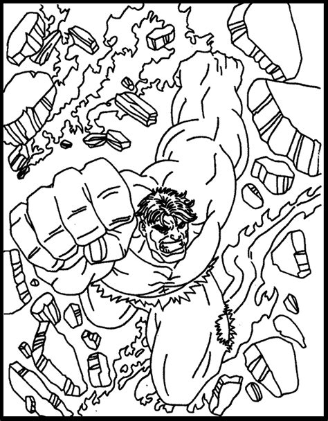 Hulk online coloring pages 4