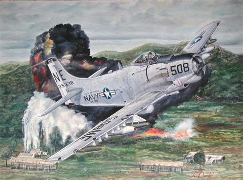 A-1H Skyraider bombing VC positions in South Vietnam, 1965