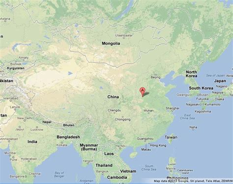 Luoyang on Map of China