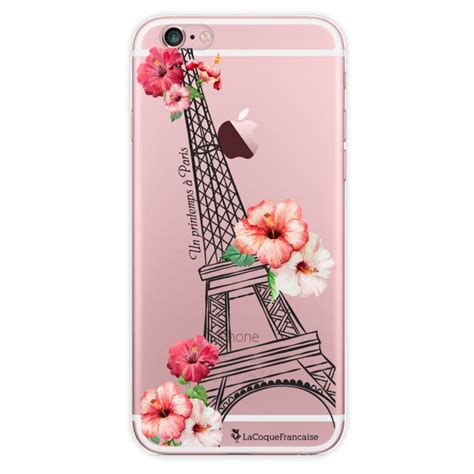 Coque transparente Un printemps à Paris pour iPhone 6 Plus