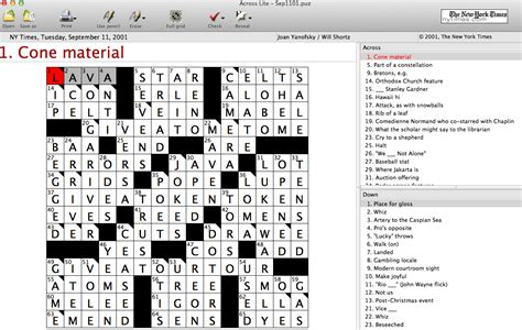 9/11 and the New York Times Crossword Puzzle: 15 Years