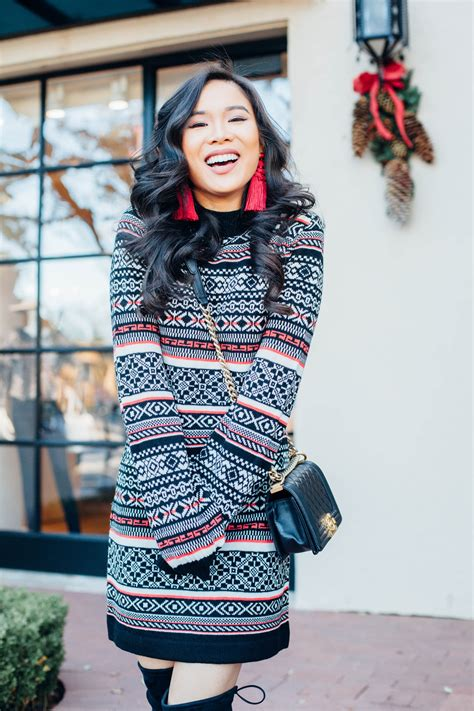 Cold Kickoff :: Fair Isle Sweater Dress - Color & Chic
