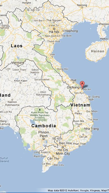 Hoi An on Vietnam Map