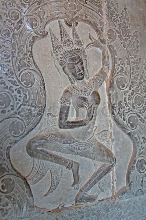 Apsara - one of thousands of unique carvings of khmer