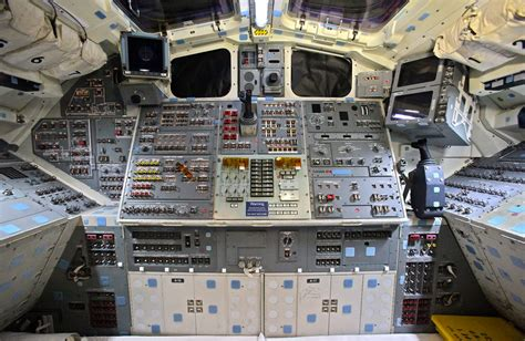 Space Shuttle Endeavour's Flight Deck   This is the view