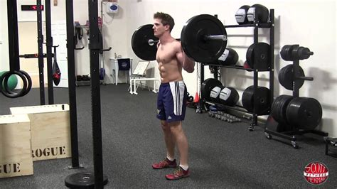 How To: Standing Barbell Calf Raise - YouTube