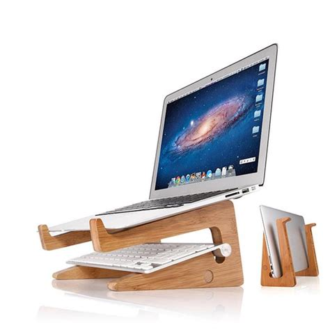 Support Bureau En Bois Pour Ordinateur Portable Macbook