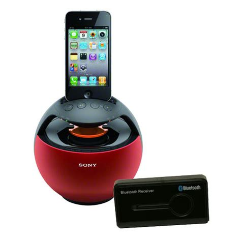 Sony RDP-V20iP Rouge + Neo Sound Récepteur Bluetooth