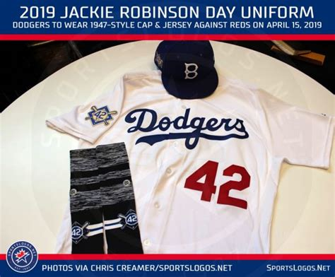 Dodgers Throwback Uniforms, Everyone in 42 for Jackie