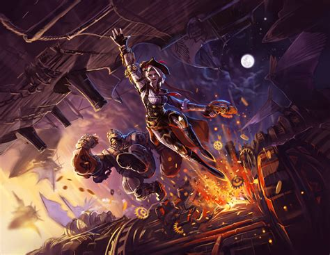 Overwatch art Contest- Steampunk ashe , Bob by pa-do on