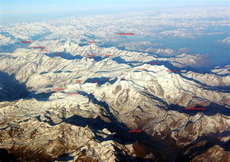 Pennine Alps by air overview (I/II)- labeled : Photos