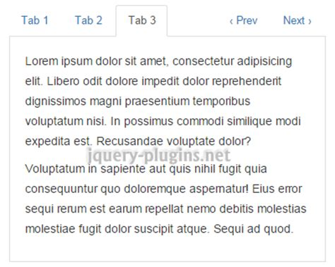 TabbedContent – jQuery Tabs Plugin Compatible with