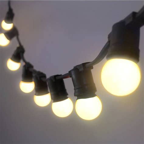 Guirlande guinguette 10 LED fixes, blanc chaud - L