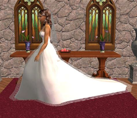 Mod The Sims - Wedding gown for big weddings! (UPDATED 29