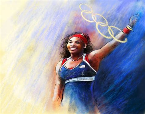 Olympics 2012 Tennis Gold Medal Serena Williams Painting