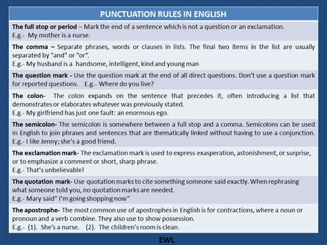Punctuation Rules in English   Vocabulary Home