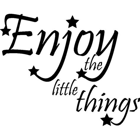 Sticker Enjoy the little things design - Stickers