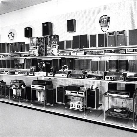 Advance Store home stereo department in the 1960's