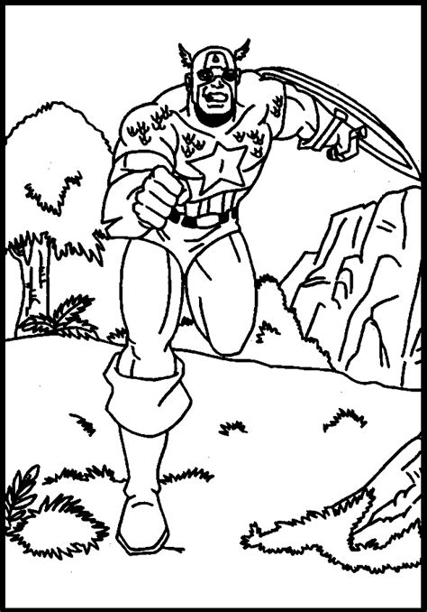 Captain America online coloring pages 4