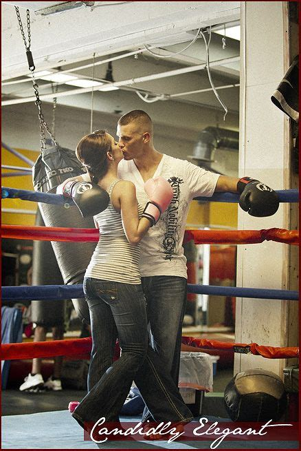 Mixed Martial Arts engagement photography session in a