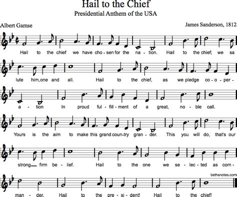 Hail to the Chief - Beth's Notes
