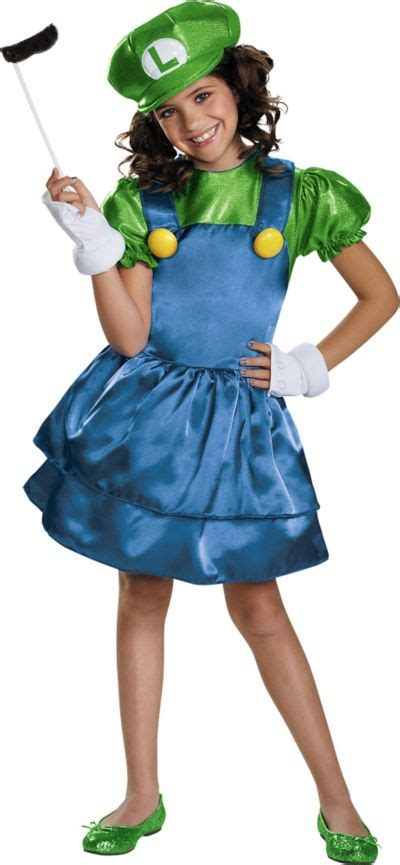 Girls Miss Luigi Costume - Super Mario Brothers | Party City